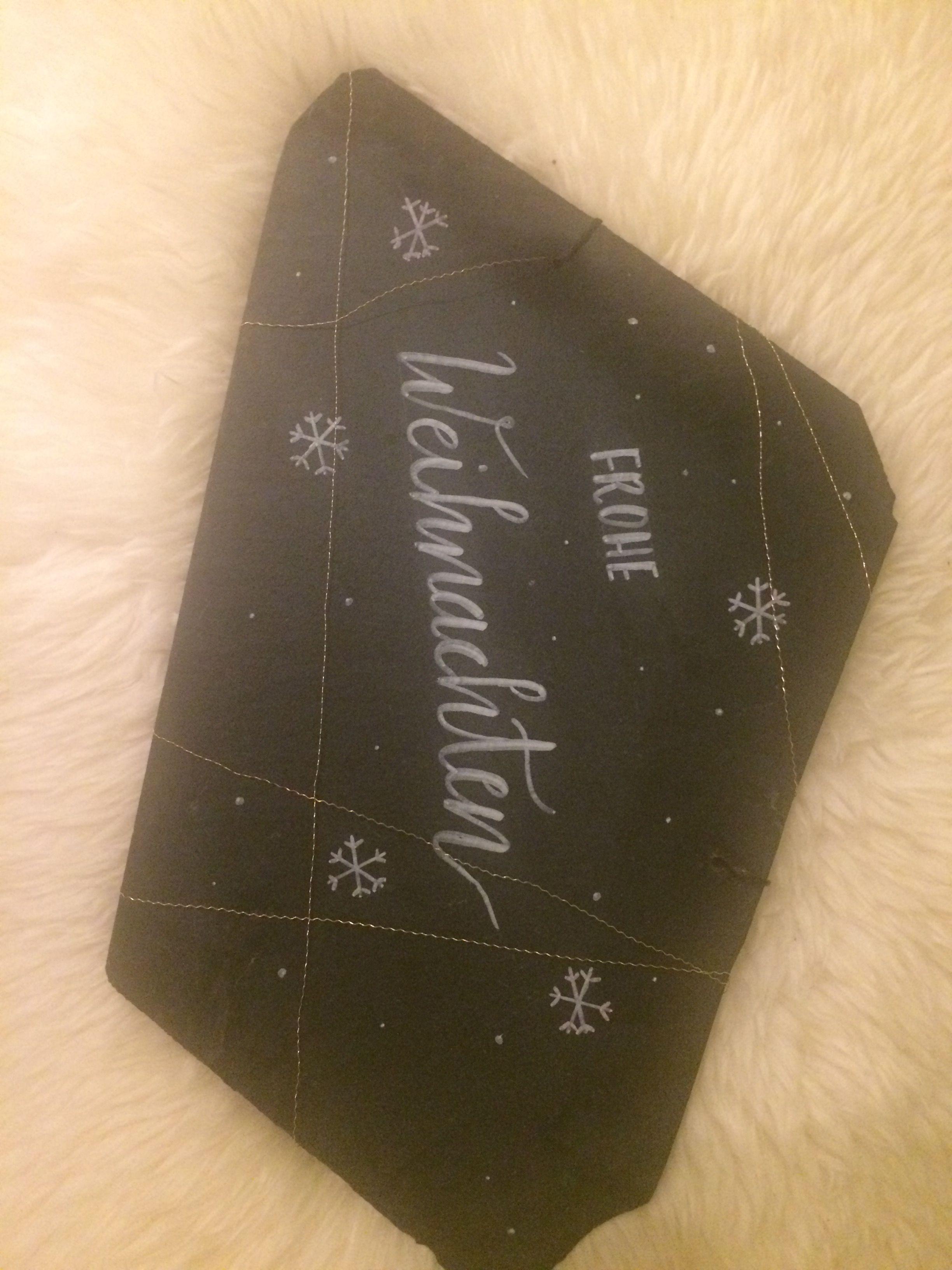 Dekoration Dekotafel Weihnachten Schiefer Lettering