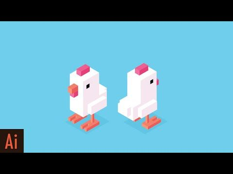 Create Isometric Character Part 1 Crossy Road Chicken
