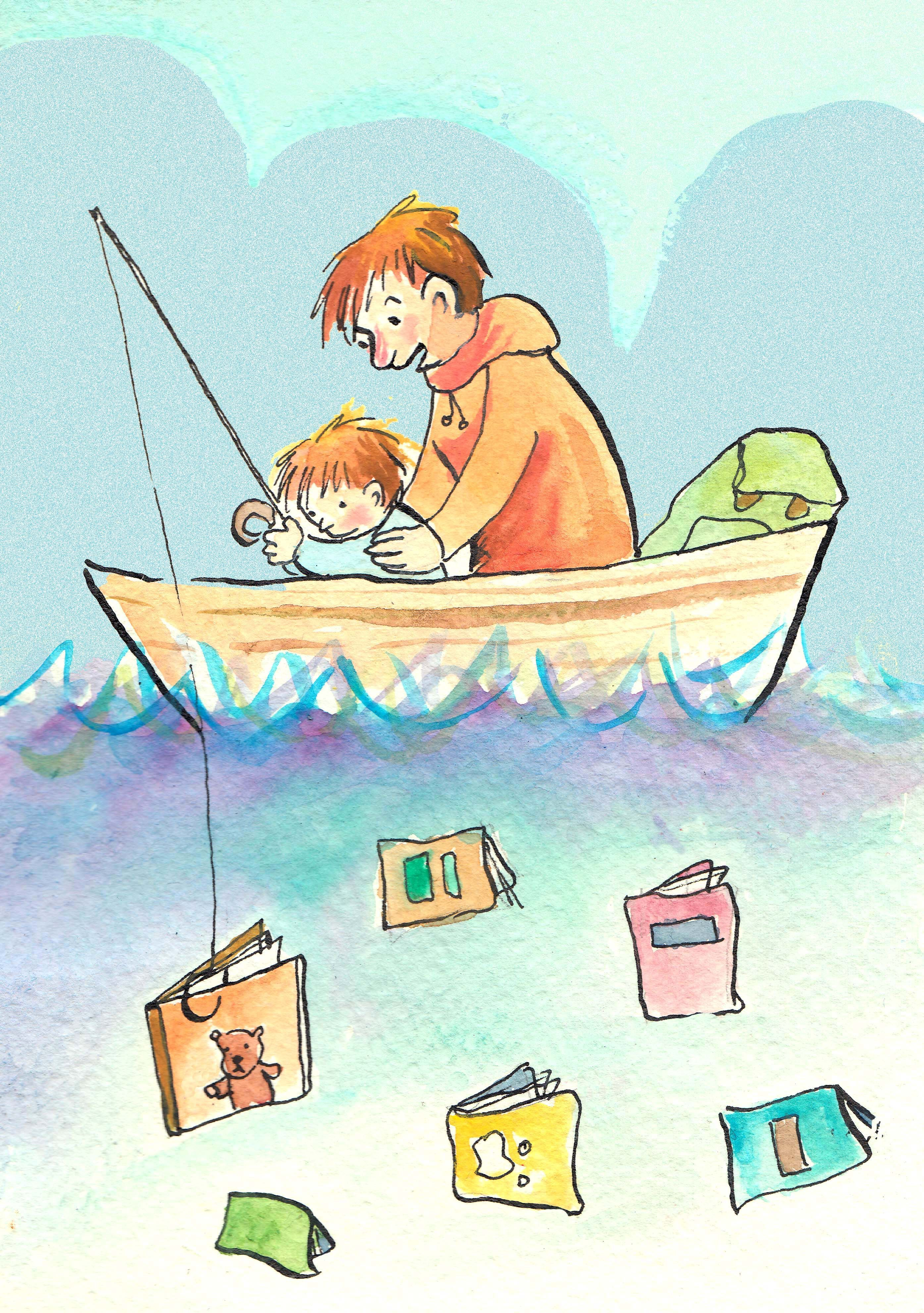 "Teach them how to ""fish"". Antonia  Roselló Ilustraciones"