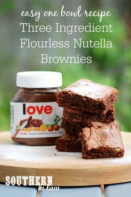 Recipe 3 Ingredient Flourless Nutella Brownies Fast Dessert