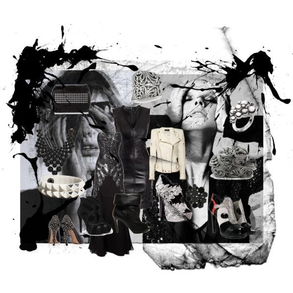 Black & White, created by charante on Polyvore