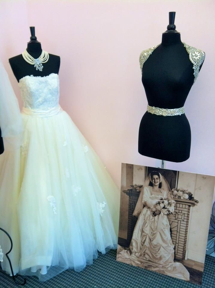 You'll find some pictures alongside our gowns, accessories and belts in the salon. #classic #weddinggown #unveiled #bridalbelt