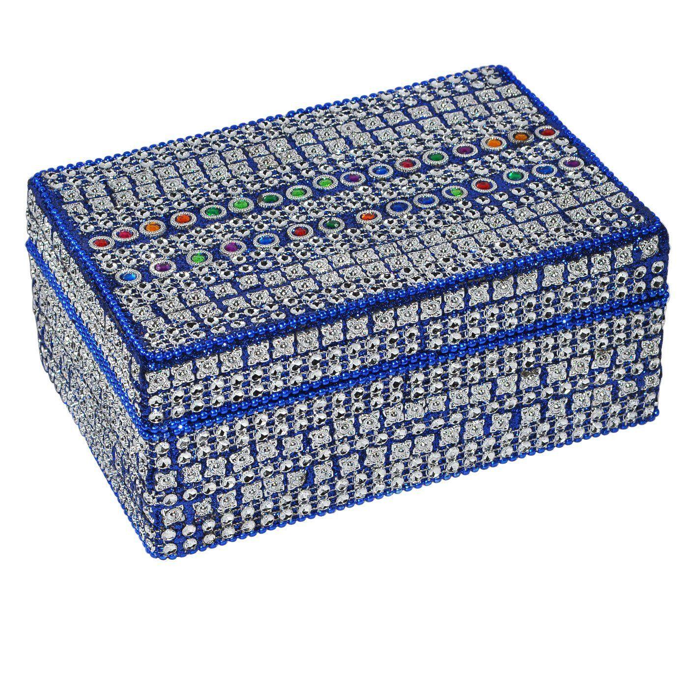 Decorative Boxes Uk Best Gift Idea Blue Decorative Jewelry Box Amazoncouk Kitchen