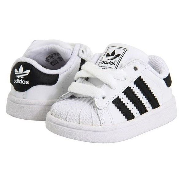 bc0a83fd237a6 adidas Originals Kids Superstar 2 Core (Infant Toddler) ❤ liked on Polyvore  featuring baby and kids