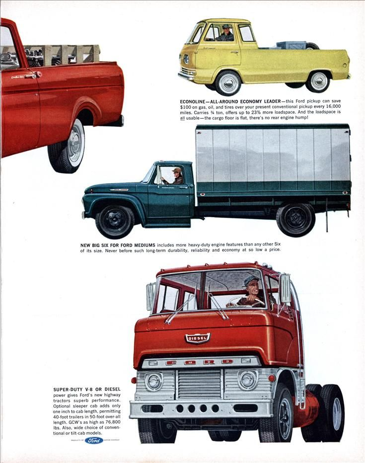They Re Here New 62 Ford Trucks Fortune Oct 1961 Ford