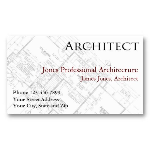 Architect Architecture Architectural Business Card