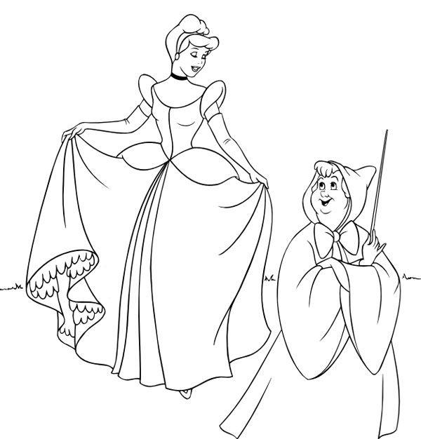 Dibujos para colorear de las princesas Disney  Disney crafts