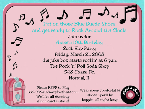 sock hop party invitations Party Invites Pinterest Sock hop
