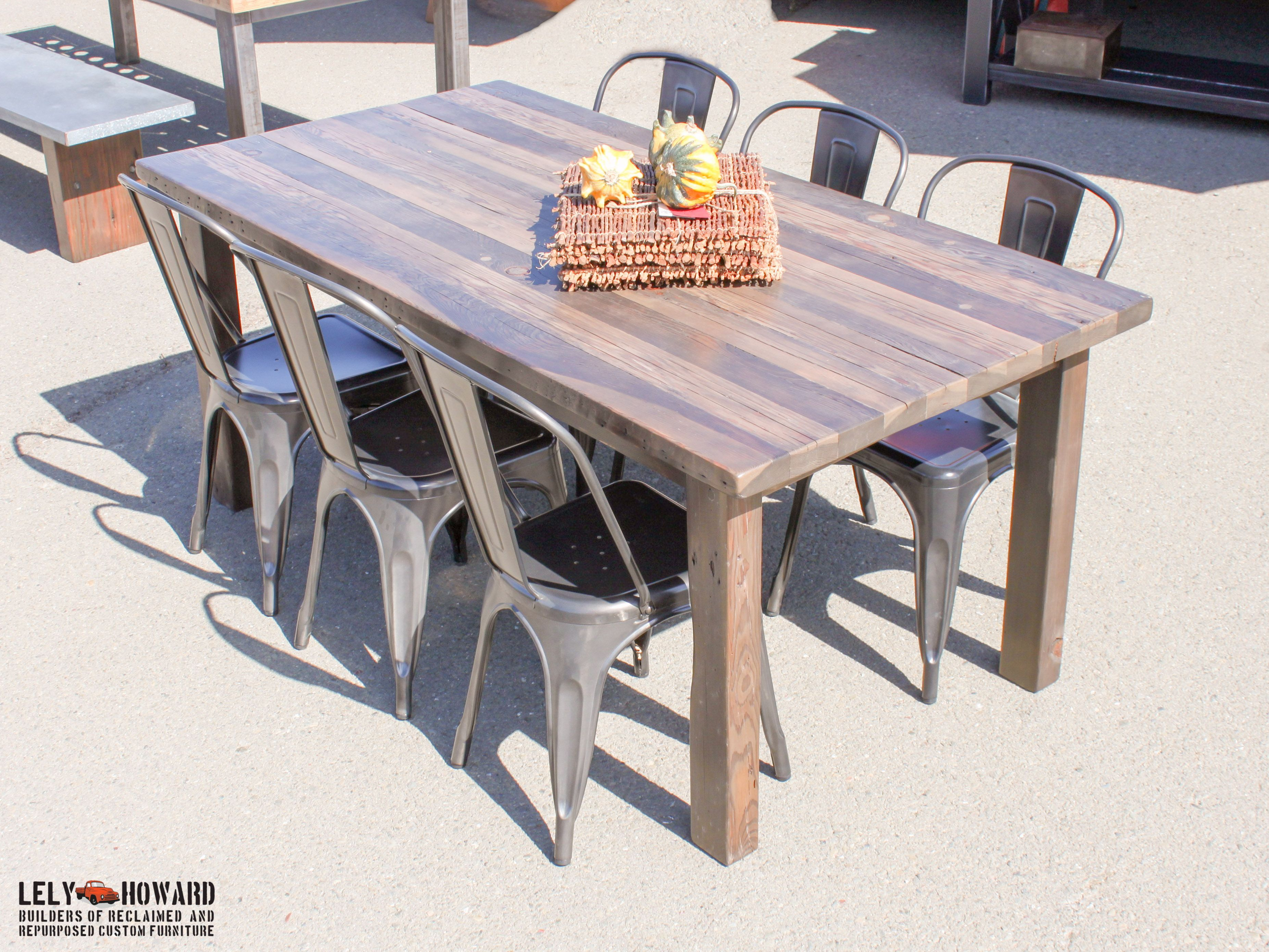 This Farmhouse Table Was Built Using Narrow Reclaimed Douglas Fir Boards,  However We Treated The