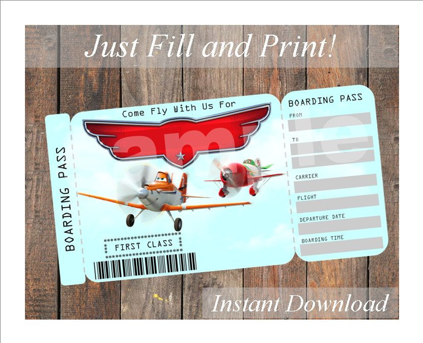 disney planes invitation templates - Google Search | Party ideas ...