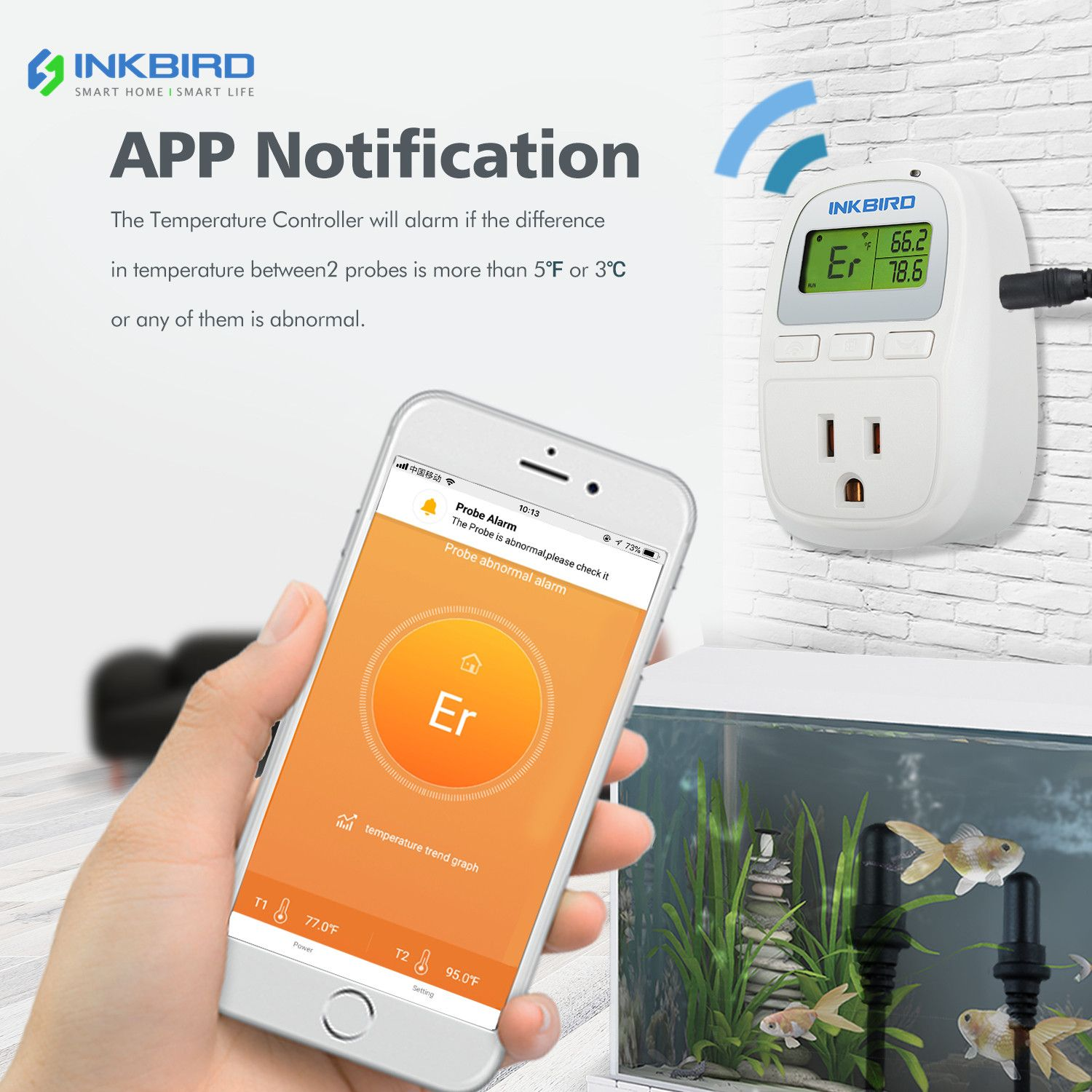 C929 Is An Inkbird Wifi Version Heating Or Cooling Thermostat Which Could Check The Temperature Reading On The App Whenever And Wherever You Re Are Once You Co