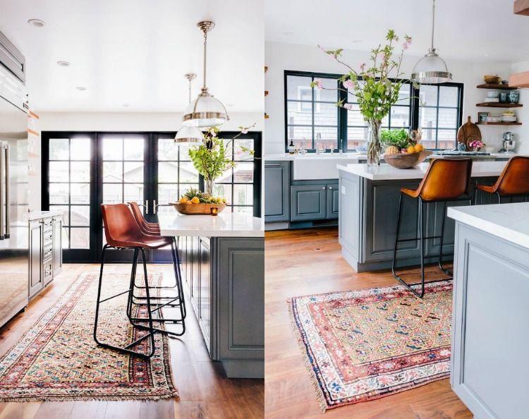 Vintage Teppiche in der Küche mit Loft-Charakter Wohnideen Küche - teppiche für die küche