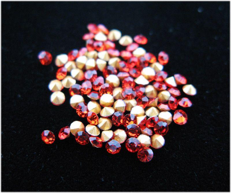 1440 шт. кристалл горный хрусталь точку назад SS6.5 2.0 - 2.1 мм сиам GMSZ0011