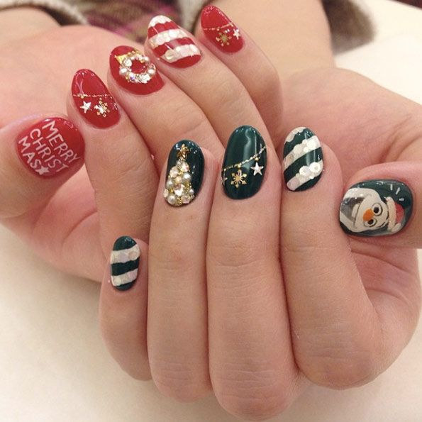 42 Winter Nail Designs To Celebrate The Holidays Green Christmas