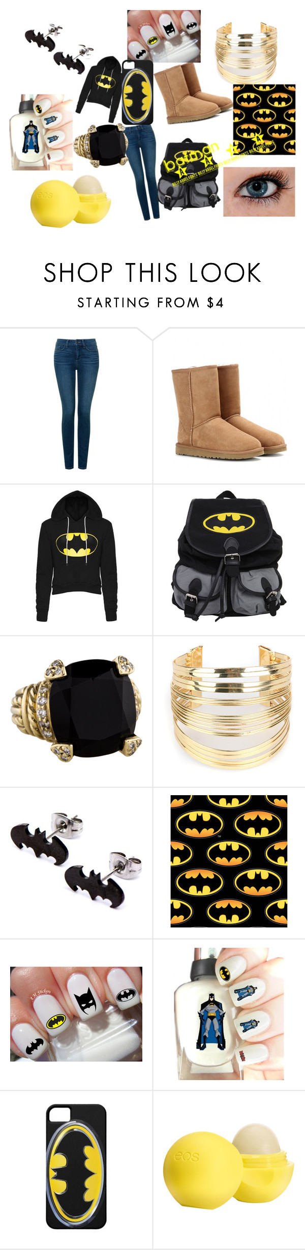 """Batman 24/7"" by bowsbeforebros75 on Polyvore featuring NYDJ, UGG Australia, Judith Ripka, WithChic, Eos, women's clothing, women's fashion, women, female and woman"