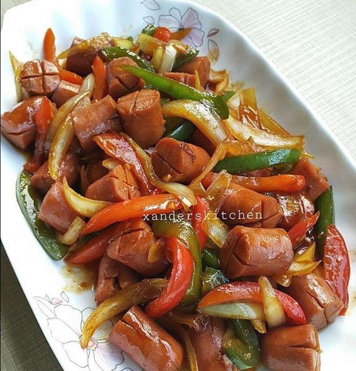 Resep Tumis Sosis Paprika Resep Masakan Masakan Resep