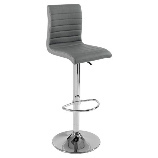Groovy Ripple Bar Stool In Charcoal Grey Faux Leather With Chrome Pdpeps Interior Chair Design Pdpepsorg