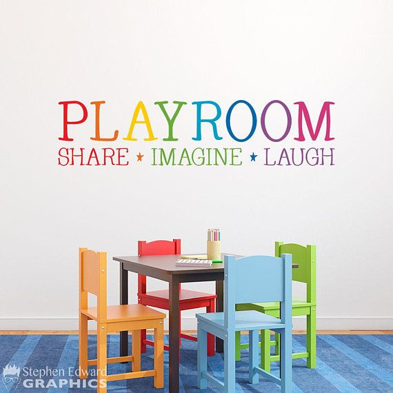 rainbow playroom decal share imagine laugh children on wall stickers for kids id=67873