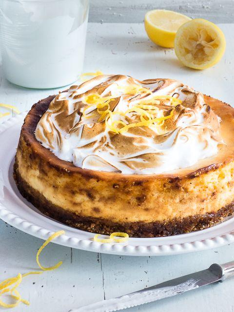 Rezept Fur Gebackenen Zitronen Kasekuchen Mit Baiser Kuchen