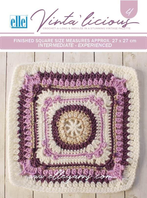 Crochet-a-Long – Elle Yarns | Granny square | Pinterest | Häkeln und ...