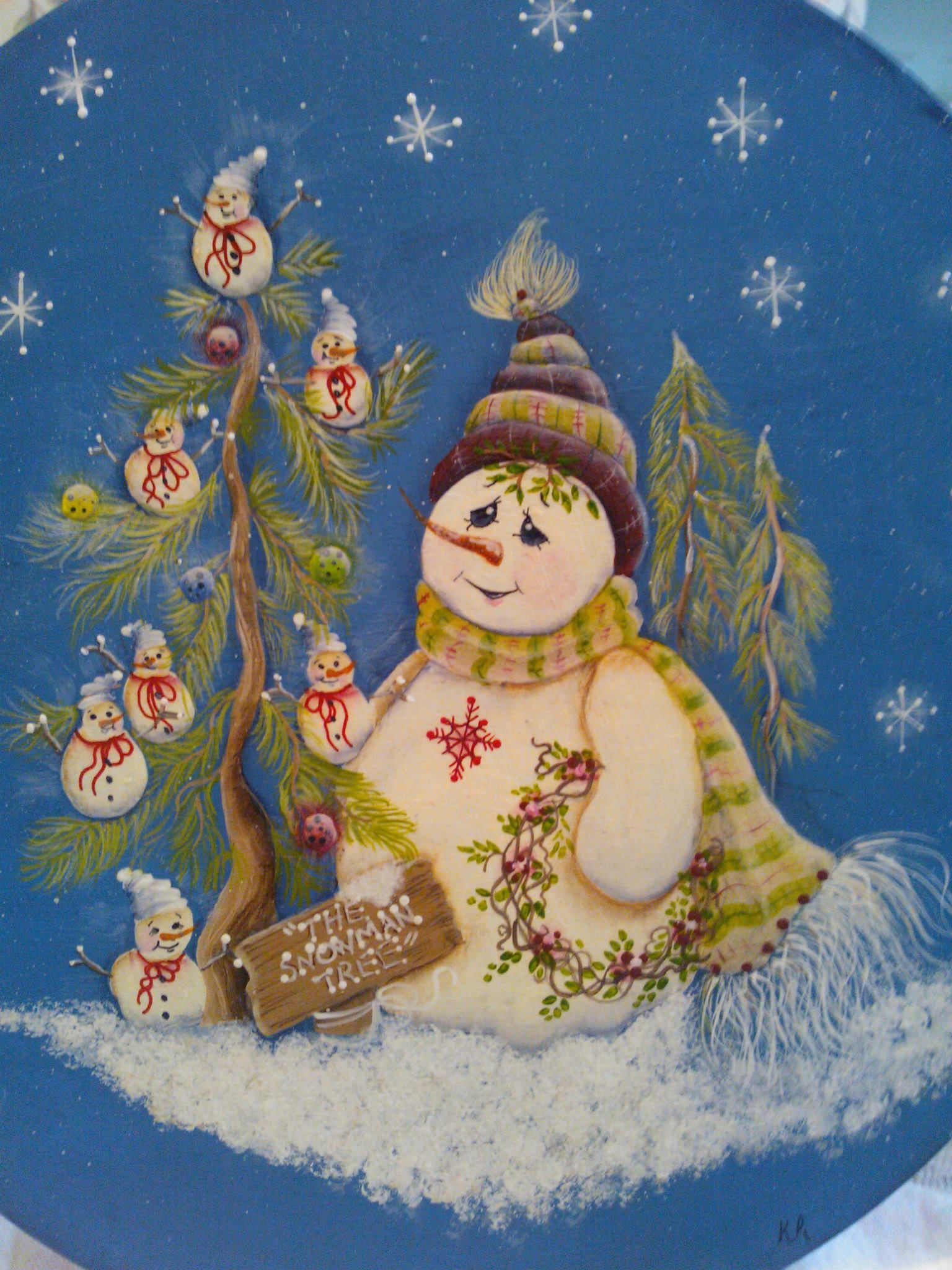 Snowman Plaque Painted By Kerri For More Tole And Decorative