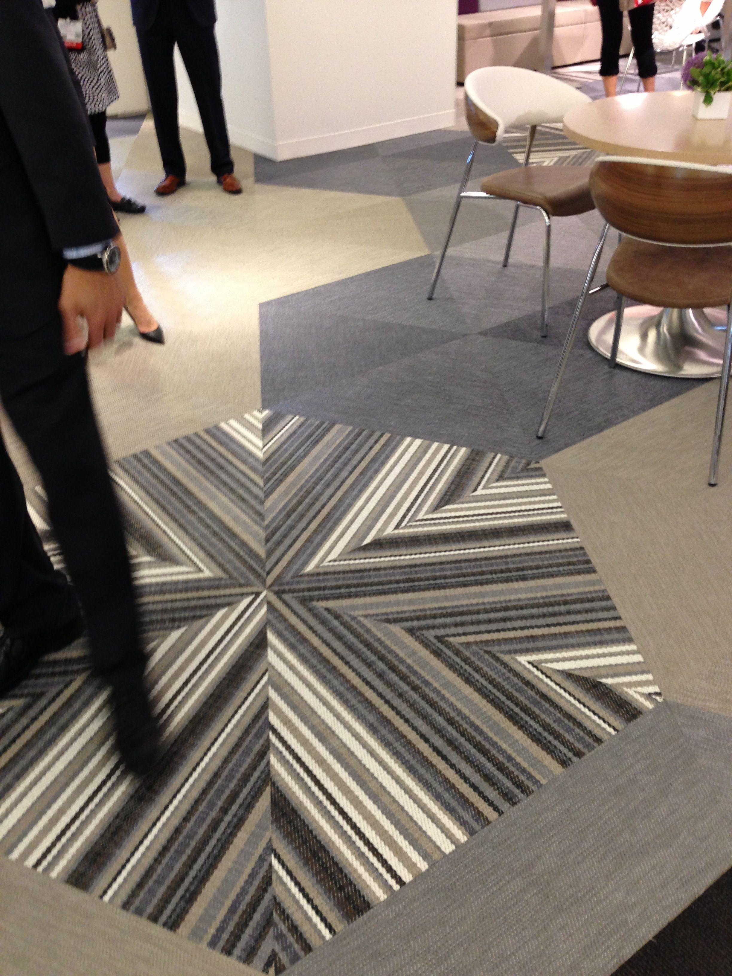 Bolon Flooring Installed In Ofs Showroom Vinyl