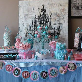 Pink Blue French Paris Theme Gender Reveal Baby