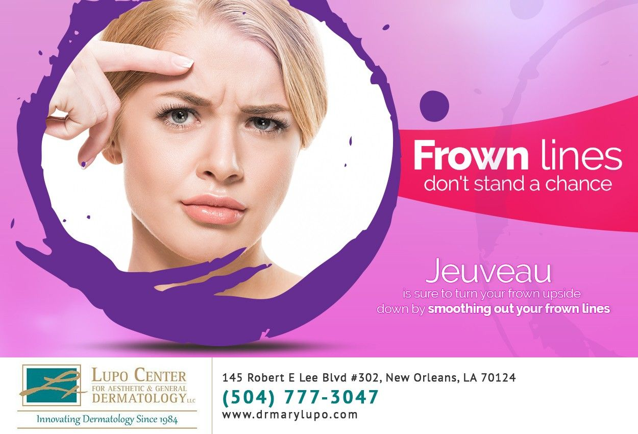 Frown lines giving you a sour expression? Jeuveau can
