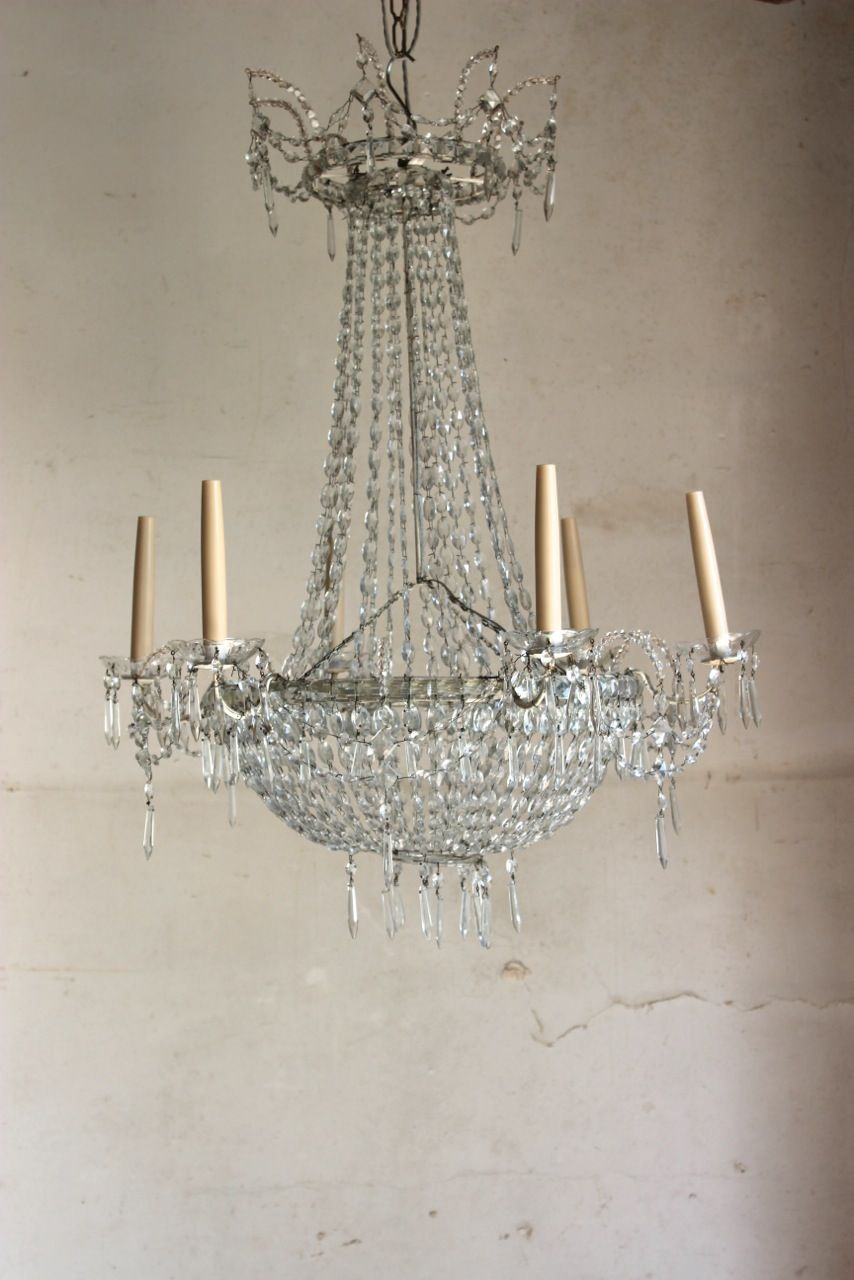 A very charming circa 1940s italian glass chandelier of elegant a very charming circa italian glass chandelier of elegant design and proportions recently rewired for the uk aloadofball Image collections