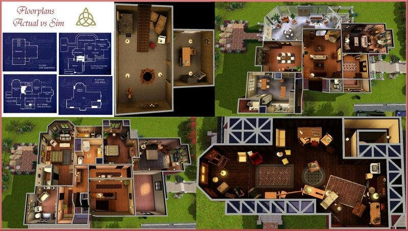 Halliwell manor   Floor plans   Pinterest   Sims, Sims house and House