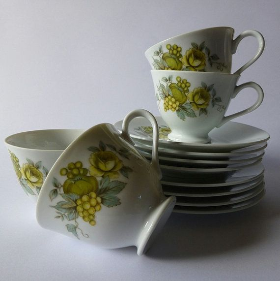 Set of 4 Cup, Saucer & Plate Royal Series Victoria by Yamato Made in ...
