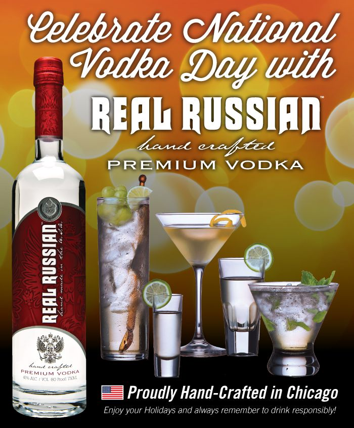 Happy National Vodka Day!! | Real Russian Vodka! | Pinterest