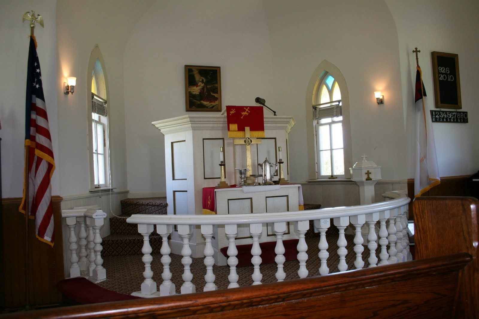 Altar in country church