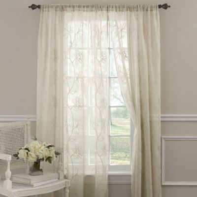 Buy Laura Ashley® Frosting Window Curtain Panels from Bed Bath ...