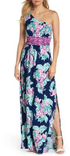 623194fe18 Lilly Pulitzer R) Malia One-Shoulder Maxi Dress