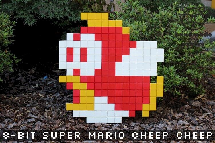 8 Bit Super Mario Bros Cheep Cheep Wall Art Tutorial Super Mario