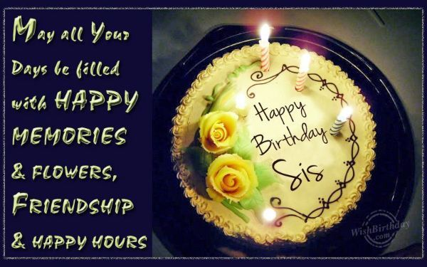 Birthday Wishes Ideas Sister ~ Best happy birthday wishes for sister with images happy