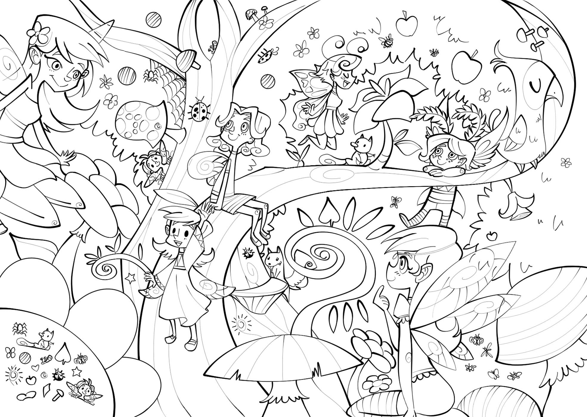 Fairy Land Page From A Fairy Tale Themed Activity Book One Of The Non Colored Pages Might