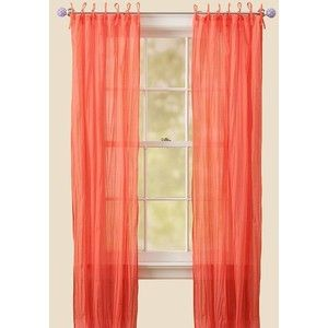 Captivating Coral Curtains