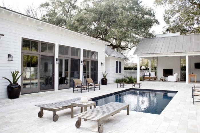 Above: We love this all-white house, patio, and pool pavilion in Charleston, South Carolina so much that we sourced the elements in Steal This Look: A ...