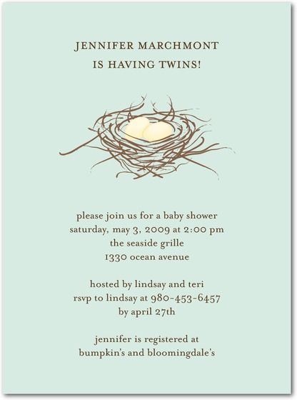 twin baby shower invitation Baby Shower Pinterest Twin, Twin - how to word baby shower invitations