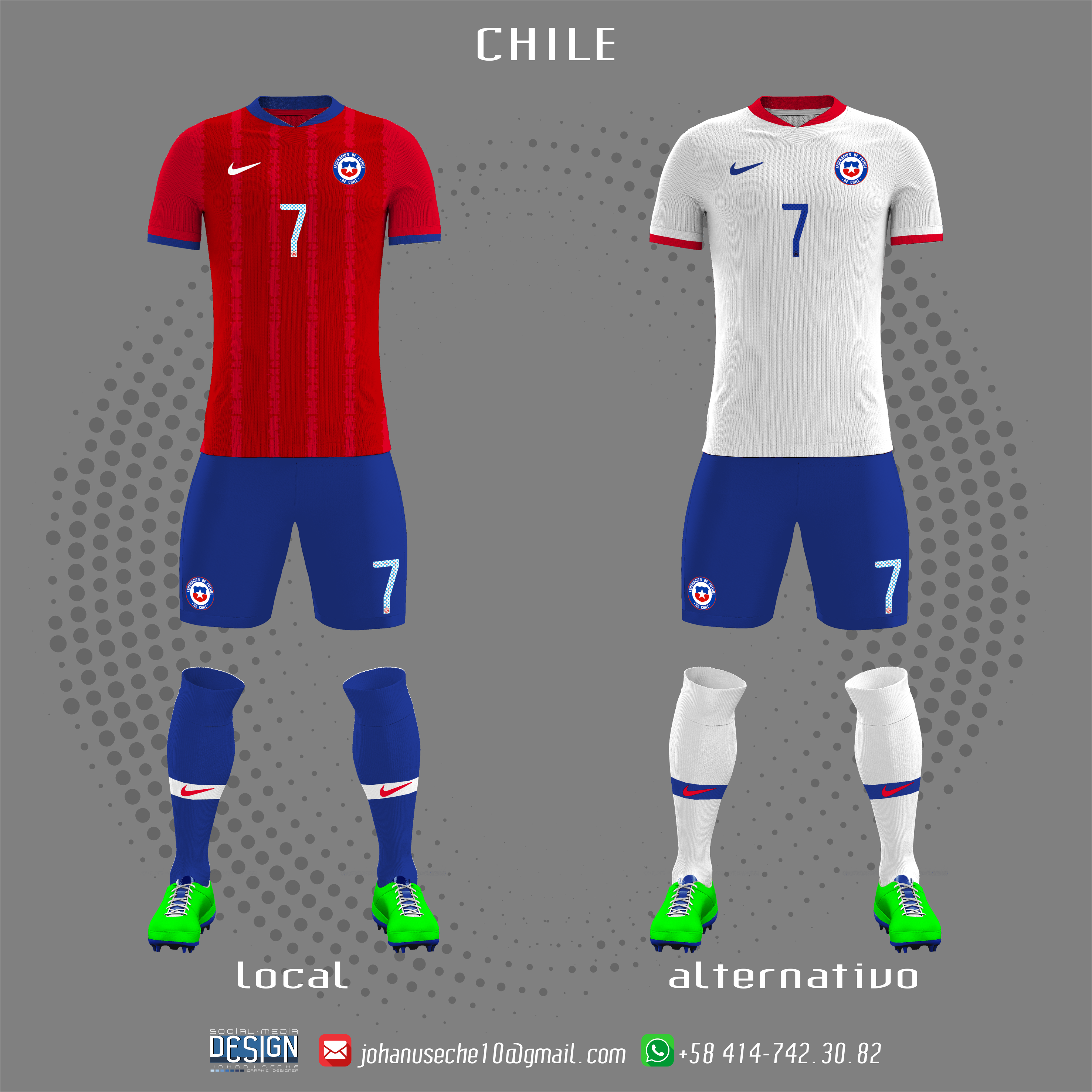 kit Chile copa américa 2019 (no oficial) | Uniformes de