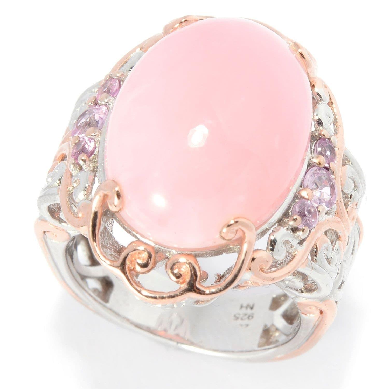 Michael Valitutti Palladium Silver Pink Peruvian Opal & Pink ...