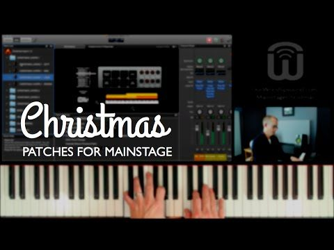 Christmas patches for Mainstage keyboard - YouTube | Keyboards in