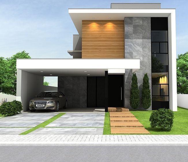 Maison Architecte Moderne, Maison Moderne, Maison Luxe, Projet Maison,  Plans De Maison, Idées Pour La Maison, Façade Villa, Maison Minecraft,  Future Maison