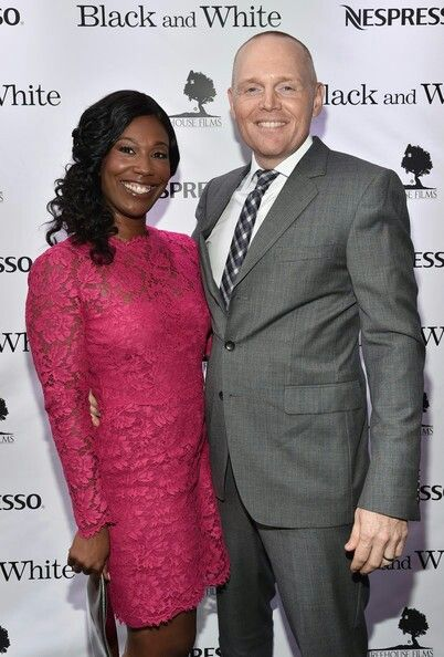 Stand-up comedian Bill Burr and his wife Nia Hill Burr ...