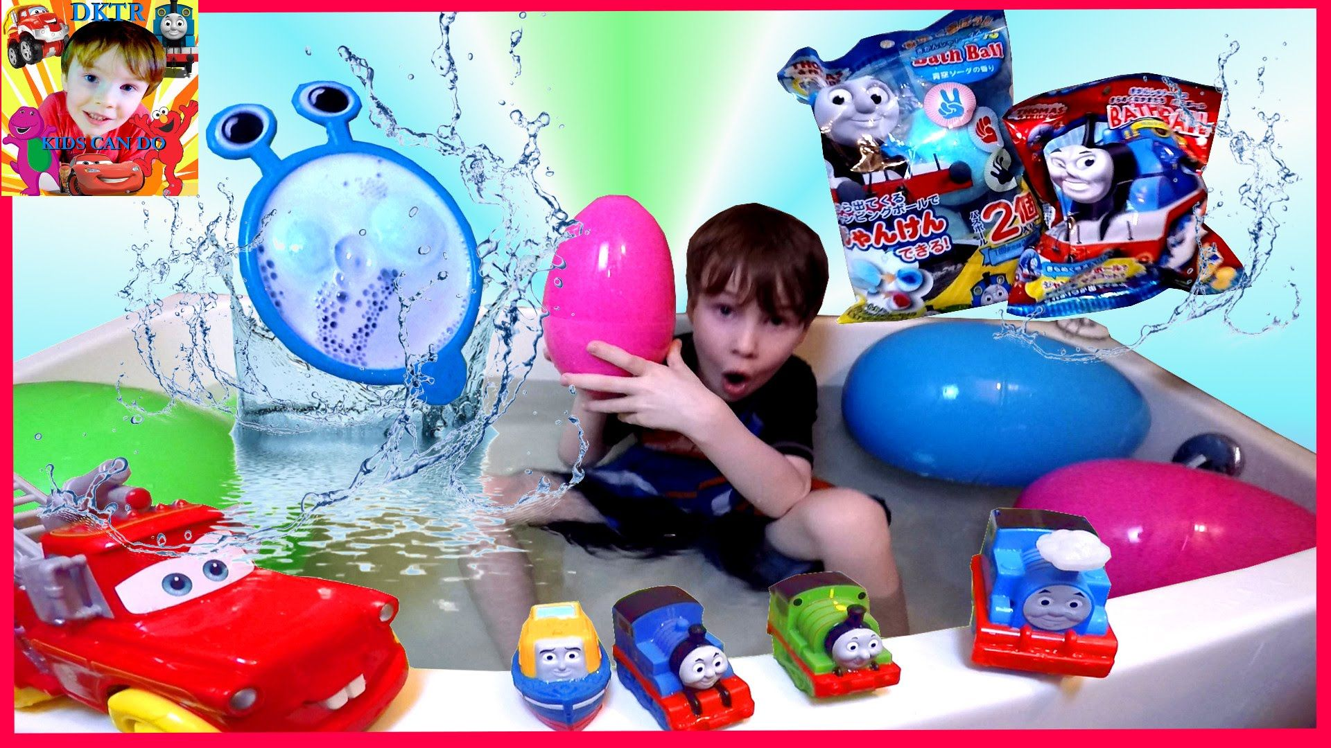 THOMAS Bath Tub SURPRISE EGGS With JAPANESE THOMAS & FRIENDS BATH ...