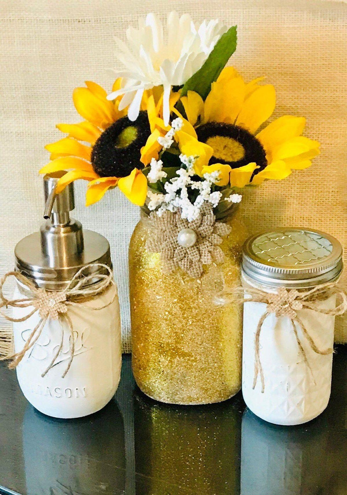 Brightening Sunflowers Bathroom Decor On Mercari In 2020 Sunflower Bathroom Sunflower Home Decor Sunflower Room