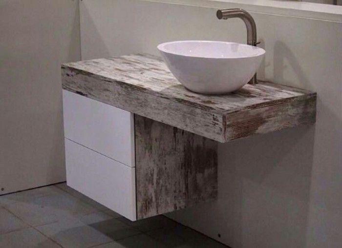 mueble-con-lavabo-sobre-encimera-700x508.jpg (700×508) | Casas ...