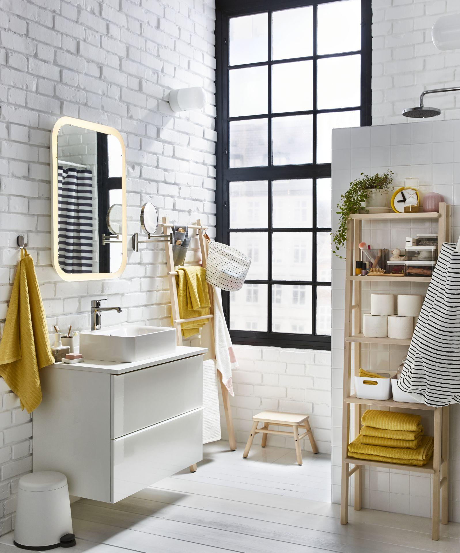 Storjorm Spiegel Mit Beleuchtung Weiss Ikea Deutschland Badezimmer Design Waschbeckenschrank Mobel Furs Wohnzimmer